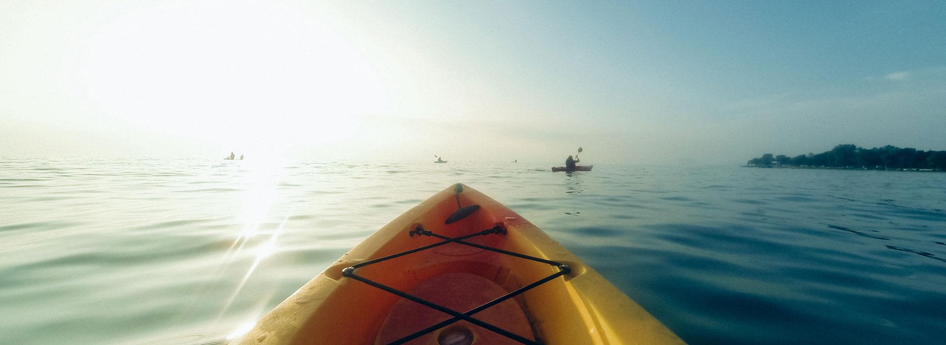 Le kayak en mer
