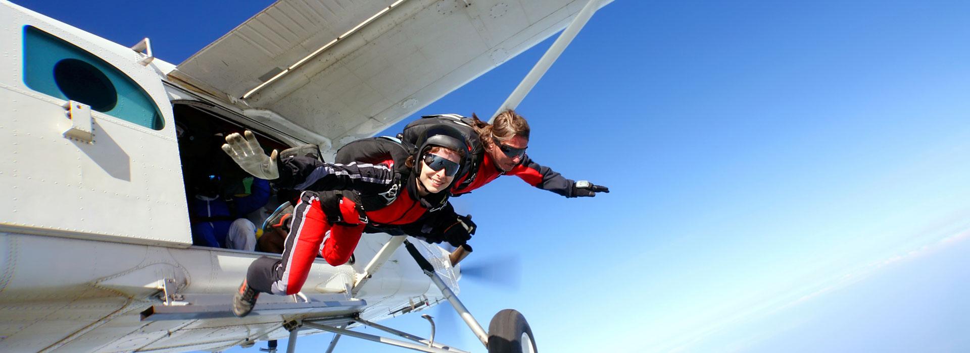 Le saut en parachute golfe du Morbihan
