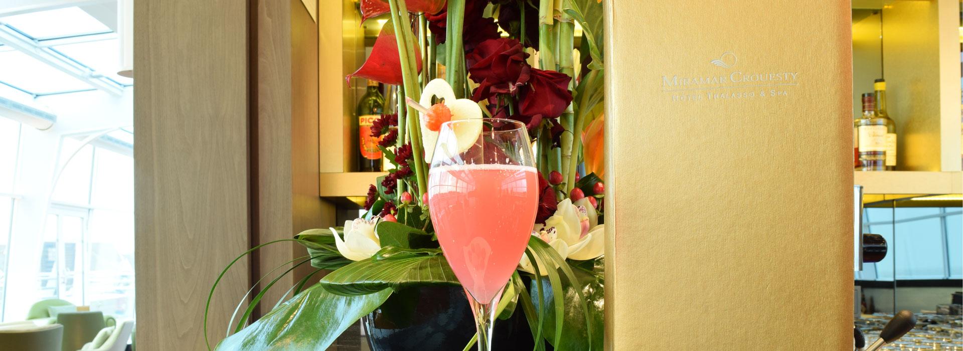 Le cocktail de la Saint-Valentin au Miramar Crouesty