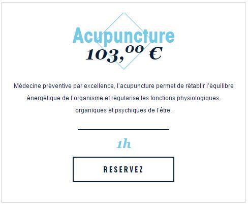 Réservez votre raitement acupuncture au Miramar Crouesty