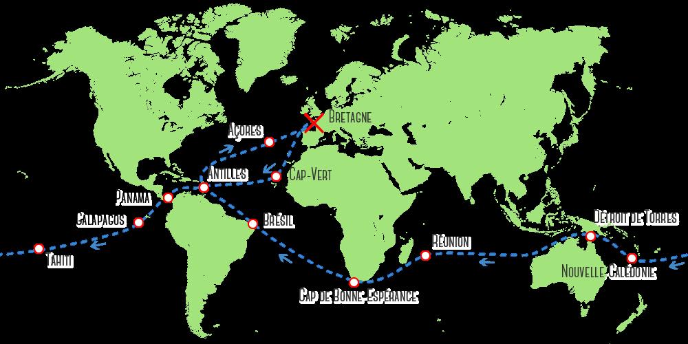 Le parcours de l'Eco Sailing Project -  eco sailing project