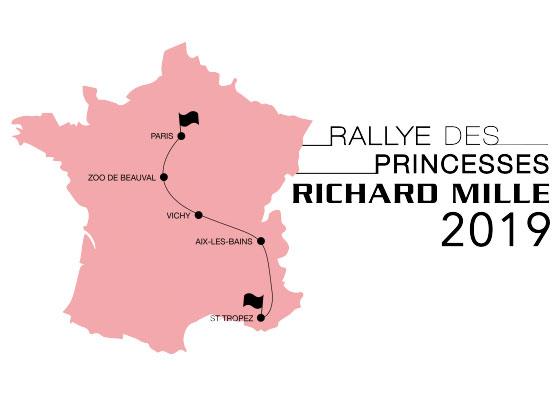 Carte du parcours du Rallye des Princesses 2019